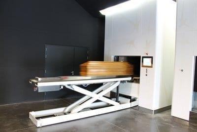 automatic coffin insert machine