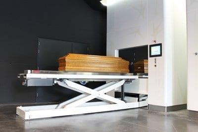 humane crematorium oven met invoermachine