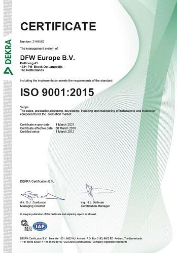 ISO 9001 2015 DFW Europe